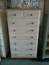 OLD MILL ARIZONA COUNTRY 6+2 DRAWER CHEST CREAM WITH PINE TRIM NO FLAT PACKS