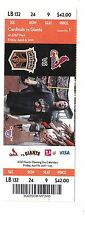 2011 SAN FRANCISCO GIANTS VS ST. LOUIS CARDINALS OPENING DAY TICKET STUB 4/8/11
