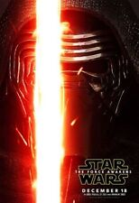Star Wars The Force Awakens Original Vinyl Cinema Banner 8ft x 5ft, Kylo Ren