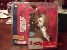 Andruw Jones McFARLANE SPORTSPICKS MLB serie 9 blanco uniforme de Atlanta Braves