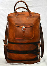 Real natural leather messenger satchel sling mens vintage handmade retro bag