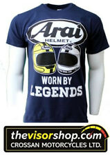 Arai GILDAN HEAVY COTTON T-Shirt NAVY -Joey & Robert Dunlop Legends XL Ex  Large