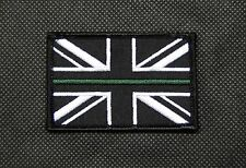 NHS UK Ambulance Service Thin Green Line Union Flag Patch Team 999 LAS Hook