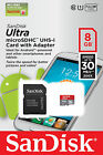 SanDisk 8GB Mobile Ultra MicroSD Micro SDHC Class 10  30mb/s UHS 1 w/ SD Adapter