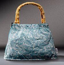 Jonny Bag Robins Egg Light Blue Floral Purse Bamboo Handle NFL TSA Compliant