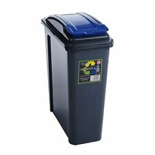 25 Litre Narrow Slim Plastic Waste Recycle Recycling Bin with Flap Lid