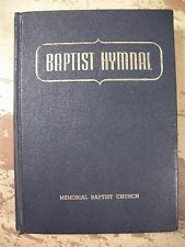 BAPTIST HYMNAL Gospel Songs Church Hymns HC 1956 Christmas Patriotic Vintage
