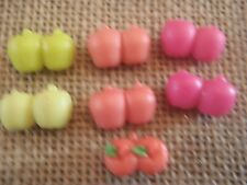 Littlest Pet Shop Apple Lot 7 Pairs of Apples Red Green Treats Accessories V55