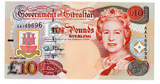 Gibraltar £10 1st July 1995 AA Prefix (P26) Uncirculated