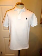 Ralph Lauren Men's Classic Fit Cotton Pique Mesh Polo Shirt White Small S
