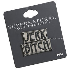 Supernatural Bitch Jerk Sam Dean Winchester Enamel Lapel Pin 2 set Join the Hunt