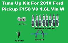 Tune Up Kit for 2010 Ford Pickup F150 V8 4.6L Spark Plug, Oil Fuel Filter, Belt