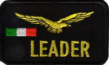 TOPPA PATCH LEADER AQUILA BANDIERA ITALIANA DISTINTIVO AVIAZIONE STRAPPO VELCRO