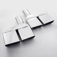 """2"""" ID Quad Stainless Steel Exhaust Tips for 1970 71 72 73 74 Dodge Challenger"""