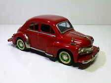 Vintage Yonezawa # 1950's RENAULT 4CV 4-door Sedan Tin Friction