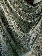 1M black gold colour paisley metallic brocade/jacquard tissu large 58""