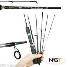 NGT 6FT 6 PIECE TRAVEL MASTER CARBON FISHING ROD CARP SEA SPINNING ROD 10-30G