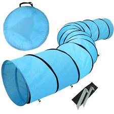 Dog Tunnel Portable Obedience Agility Training Chute Dog Supply w/Carrier Bag