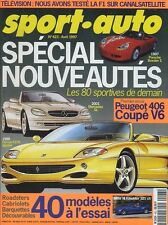 SPORT AUTO n°423 Avril 1997 406 V6 coupé BOXSTER S FERRARI 375 SPIDER BMW M RODS