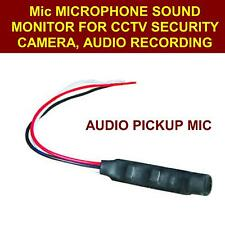 Mic Microphone Sound Monitor For CCTV Security Camera,audio recording1