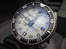 """Vintage Seiko 7002 XX MEGA MOD """"WHITE DOLPHIN"""" BB BLUE SAPPHIRE CRYSTAL 150m E96"""