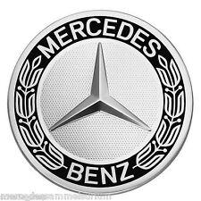 Mercedes Benz Original 4 Radnabenkappen 75mm Lorbeerkranz Schwarz/Silber Neu OVP