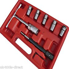 7pc Diesel Injector Seat Cutter Cleaner Set  Universal Re - Face Score Tool