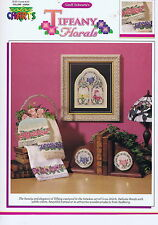 Tiffany florals cross stitch chart/pattern (color chart) #30904