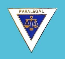 Paralegal Lapel Pin Scales of Justice Emblem Graduation Recognition 5037 New