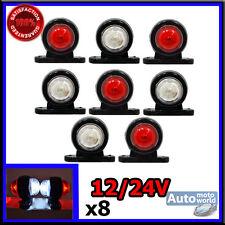 8 X 12 V 24 V MINI SIDE MARKER RUBBER LED LIGHTS TRAILER TRUCK LORRY CAMPER