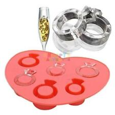 Wedding Diamond Ring Ice Cube Tray Chocolate Fondant Silicone Cake Mold Mould 49