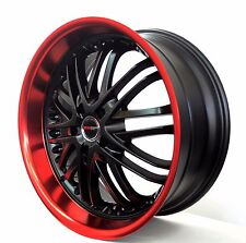 4 GWG Wheels 20 inch STAGGERED Black Red AMAYA Rims fits ET38/42 AUDI A8 - A8L