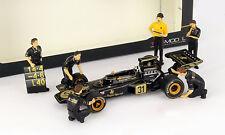 JPS Team Lotus Formule 1 Pit Stop Figures Fixé incl. C. Chapman 1:43 TrueScale