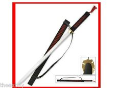 "37""  Red/Blk NINJA SWORD Samurai KATANA STEEL w/SHEATH!"