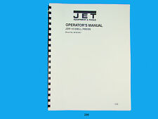 Jet JDP-10 Precision Drill Press Operator & Parts List  Manual   *230