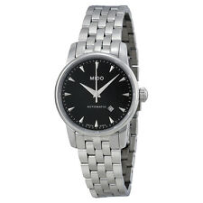 Mido Baroncelli Jubilee Automatic Black Dial Stainless Steel Ladies Watch-AU