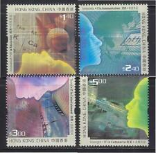 HONG KONG CHINA 2002 CYBER INDUSTRY COMP. SET OF 4 STAMPS SC#974-977 IN MINT MNH