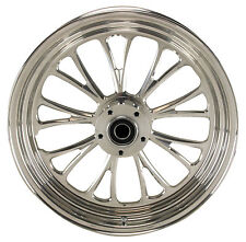 "Manhattan Polished CNC Machined 16"" x 3.5"" Rear Wheel for Harley & Custom Models"