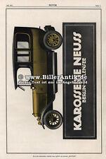 Karosserie Neuss Stepney Autoreifen Wagen Werbung Berlin 1913 Motor Original 070