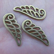 20x retro bronze angel wings Pendant Charm Beads accessories