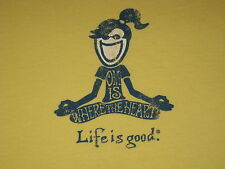 LIFE IS GOOD WOMENS S/S YOGA T- SHIRT SIZE L