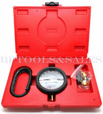 FUEL PUMP & VACUUM TESTER Carburetor Valve Pressure Tester Gauge Kit Car Truck