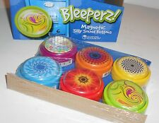 LOT Of 6 ~  Bleeperz Magnetic Silly Sound Buttons by Learning Resources ~ 2""