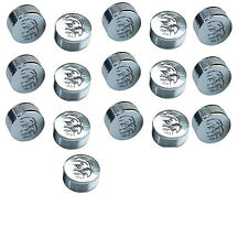 "CY-CHROME EAGLE DESIGN METAL BOLT COVERS; 1/4"" Hex Head (pack of 16)"