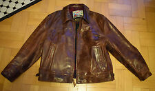 Aero Highwayman  brown Front quarter horsehide leather jacket