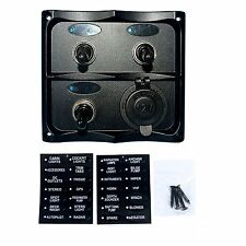 Excellent Boat and RVS PN-TF3J-S Marine Electric 3 Gang Led Toggle Switch Panel
