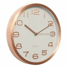 Karlsson MAXIE WALL CLOCK COPPER Case & numbers WHITE Face