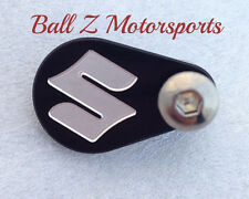 Hayabusa GSXR 750/1000 Black/Silver Engraved Front Sprocket Speed Sensor Cover!!