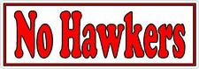 No Hawkers - Shop or Business Door Sticker Sign