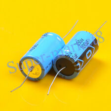 2pcs Axial Electrolytic Capacitor 100uf 100mfd 350V 85℃ Tube Guitar Amp 22x40mm